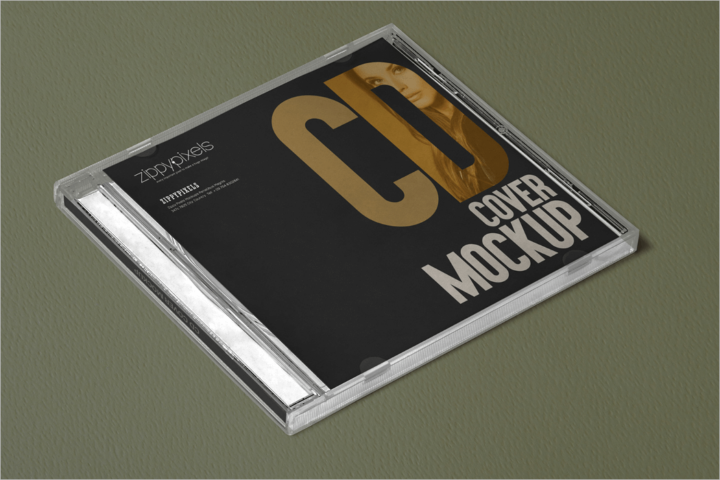 CD Cover Mockup Design