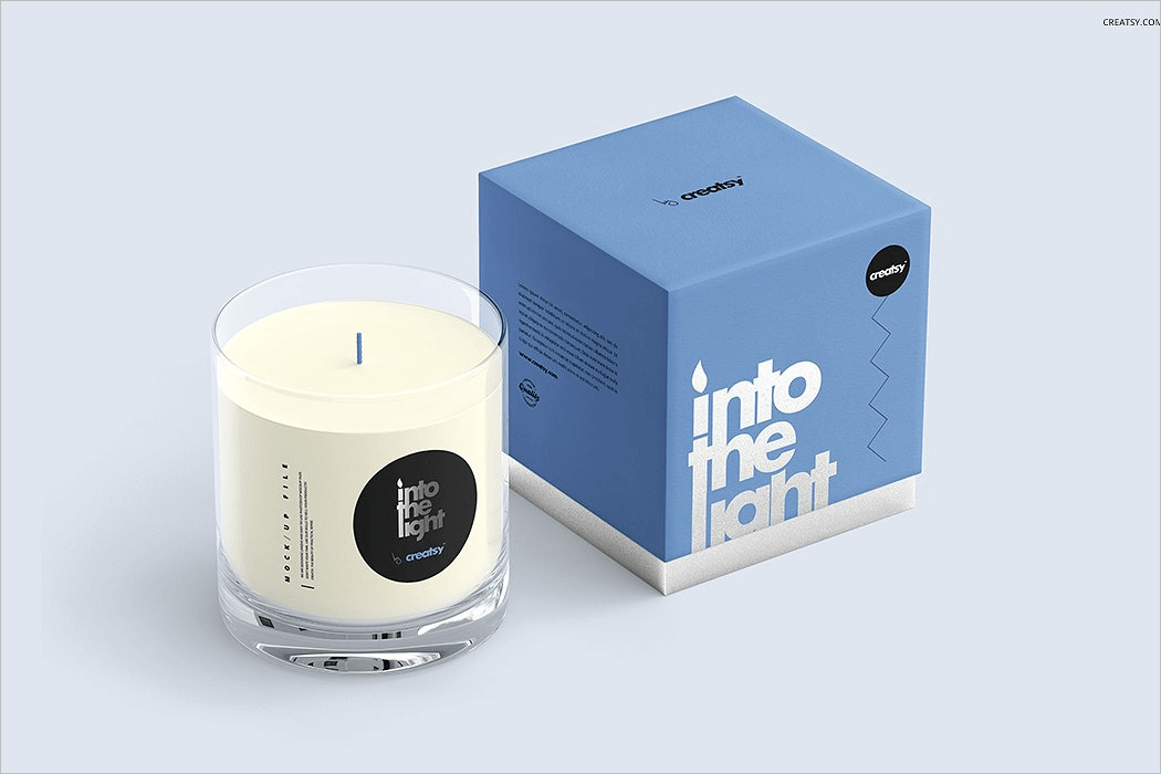 Candle Mockup Free Download