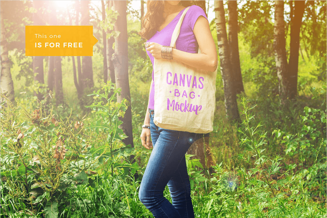 Canvas Bag Mockup PSD