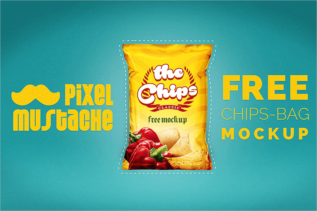 Chips Bag Mockup Design
