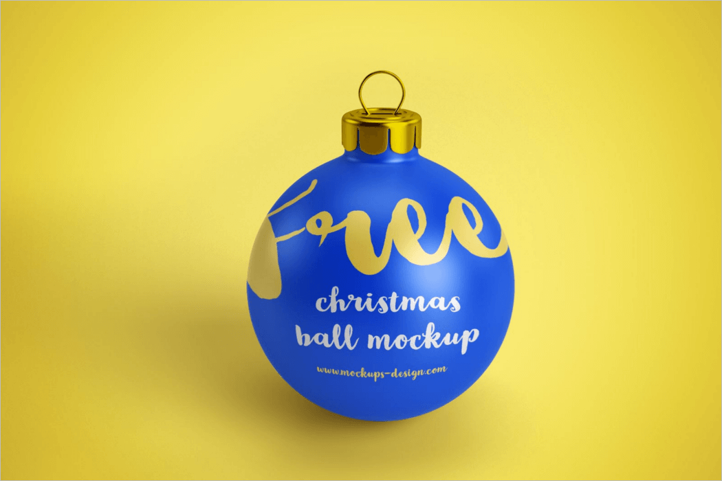 Christmas Ornament Mockup Template
