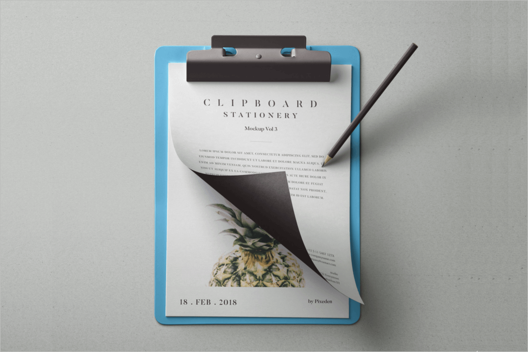 Clipboard Mockup Template