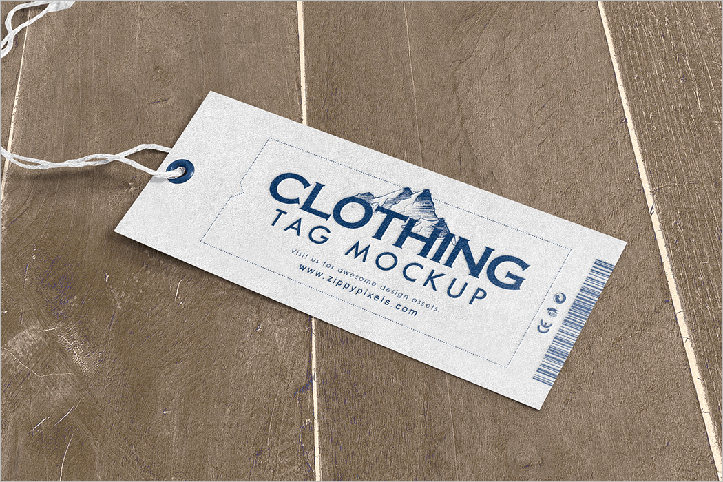 Clothing Tag Mockup Template