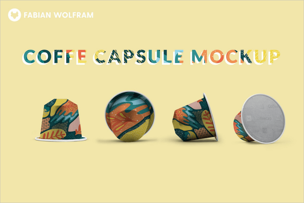 Coffee Capsule Package Mockup