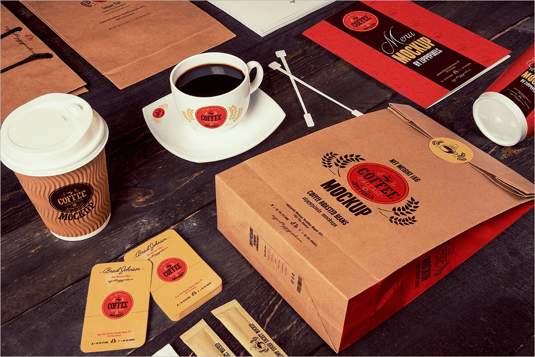 Coffee Product Mockup PSD