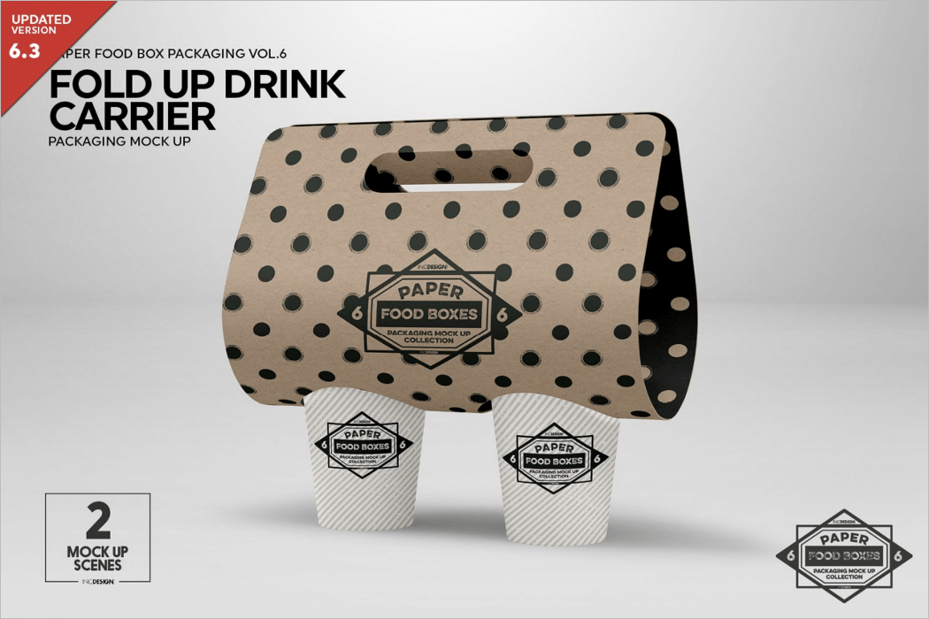 Drink Carrier Mockup