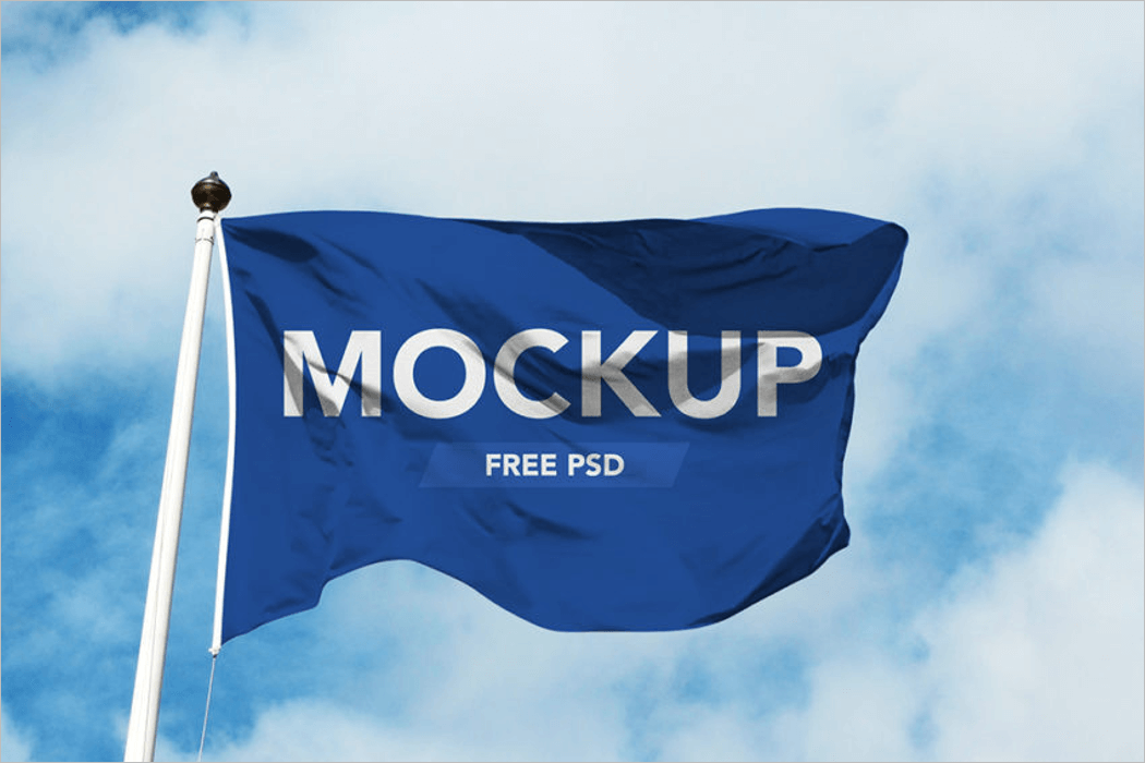 Flag Mockup Design Template