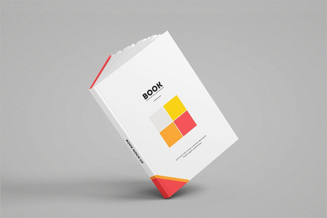Floating Book Mockup