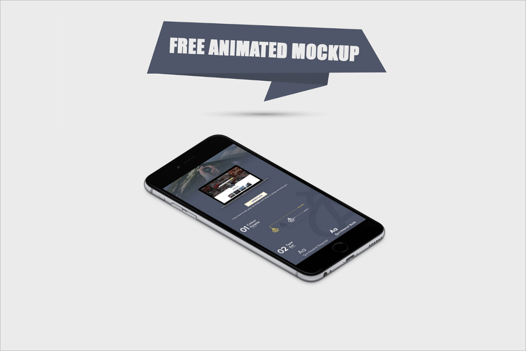 Free Animated Mockup PSD