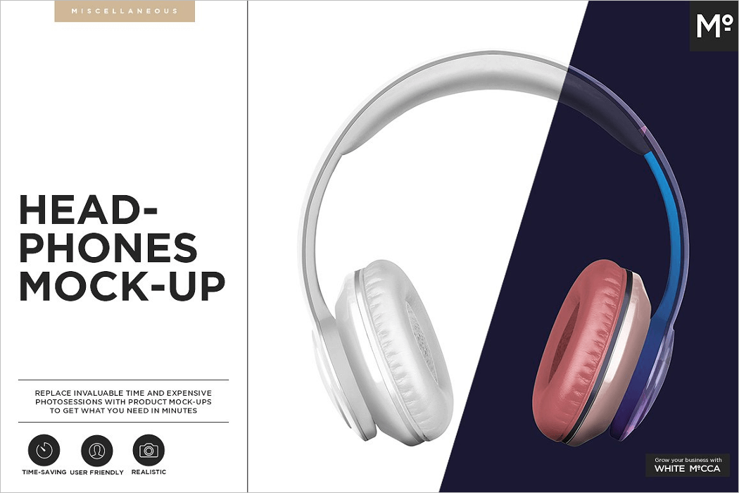 Headphone Mockup PSD