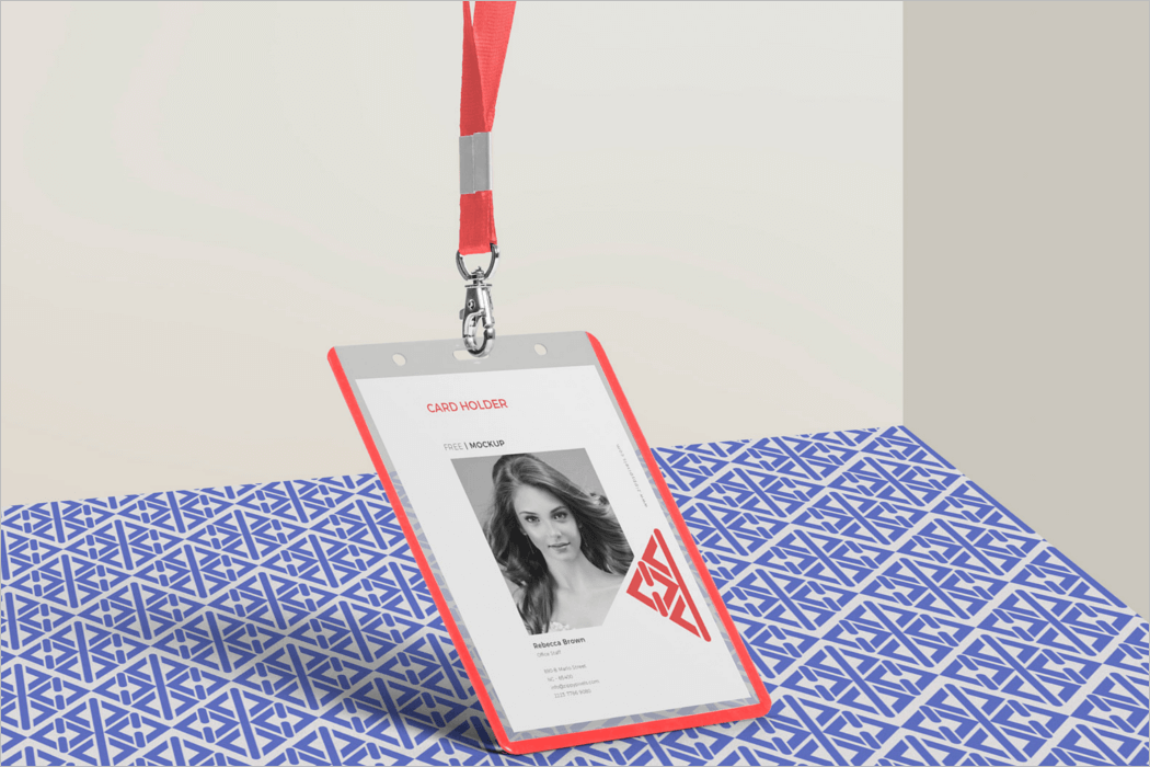 ID Card Mockup Template'