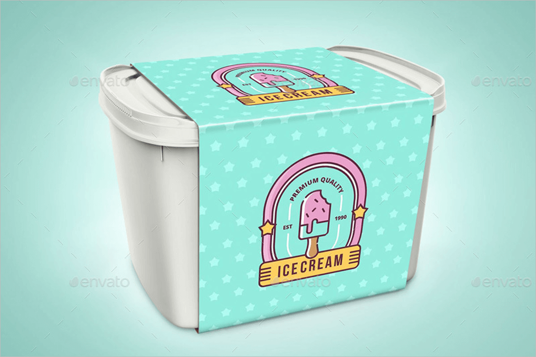 Ice Cream Box Mockup