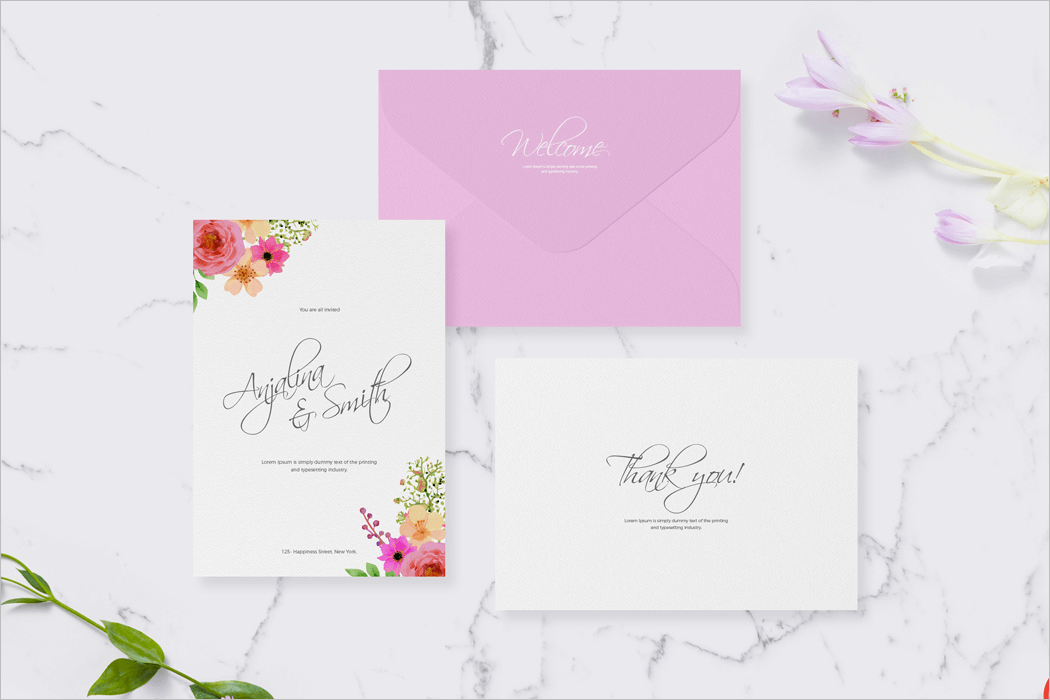 Invitation Card Mockup Download