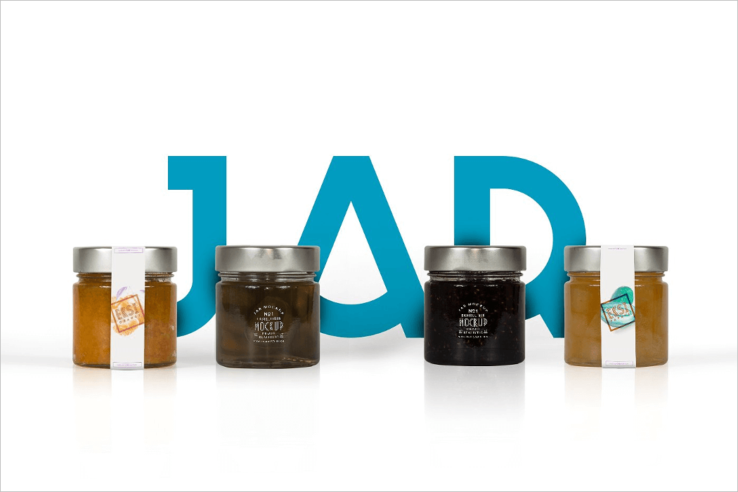Jar Packaging Mockup PSD