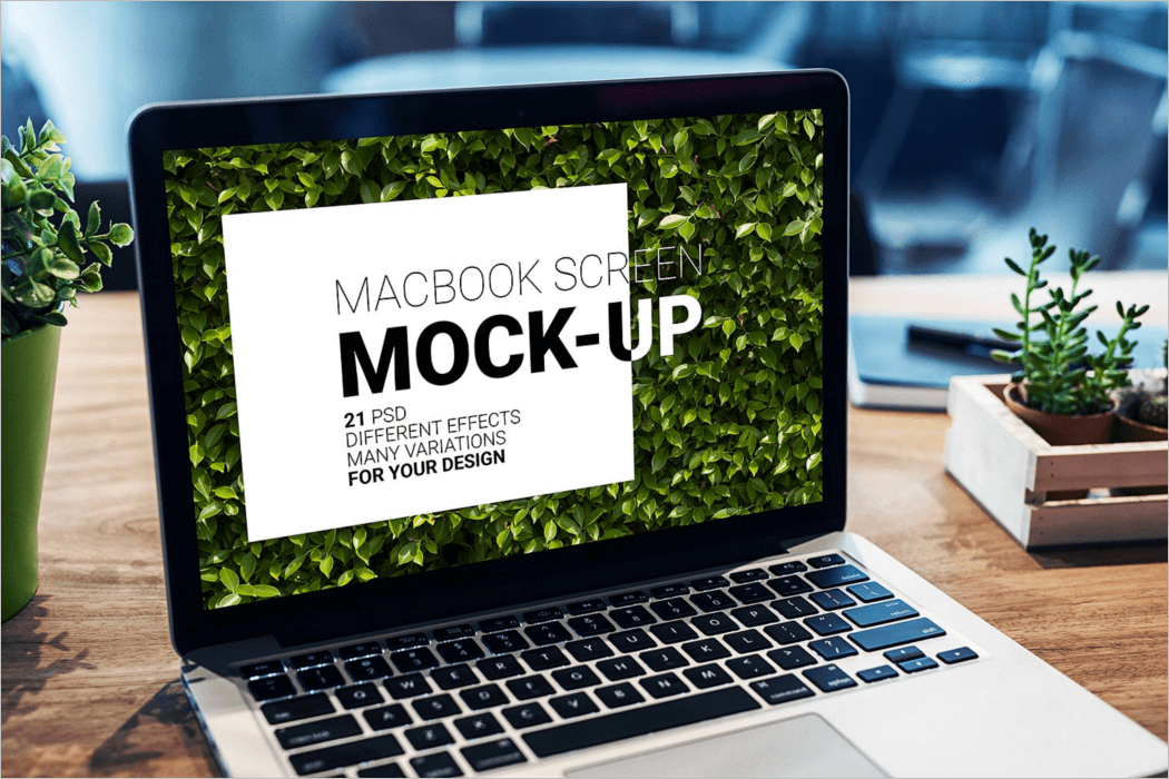 MacBook Screen Mockup Design