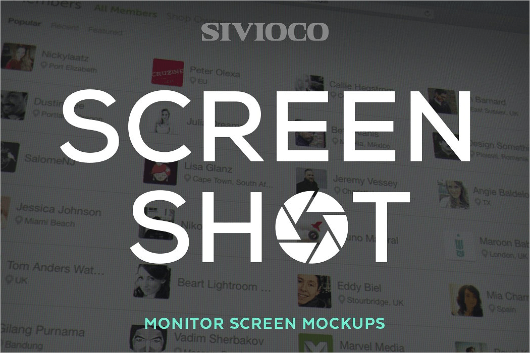 Monitor Screen Mockup Design