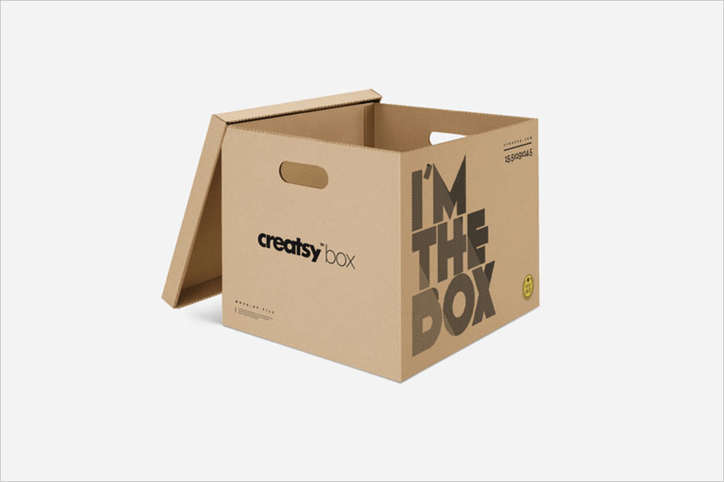 Moving Box PSD Mockup