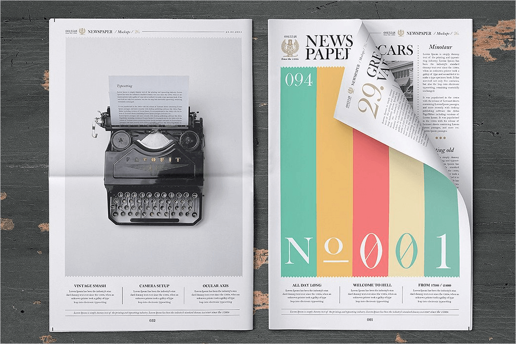 Newspaper Mockup Free Download