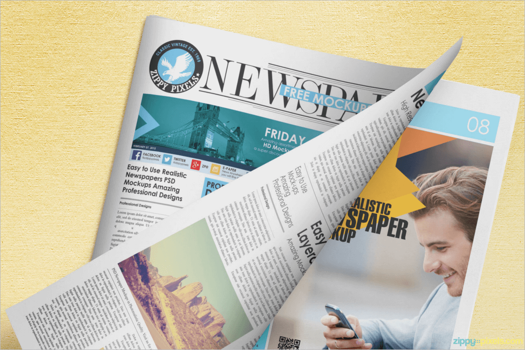 Newspaper Mockup Template