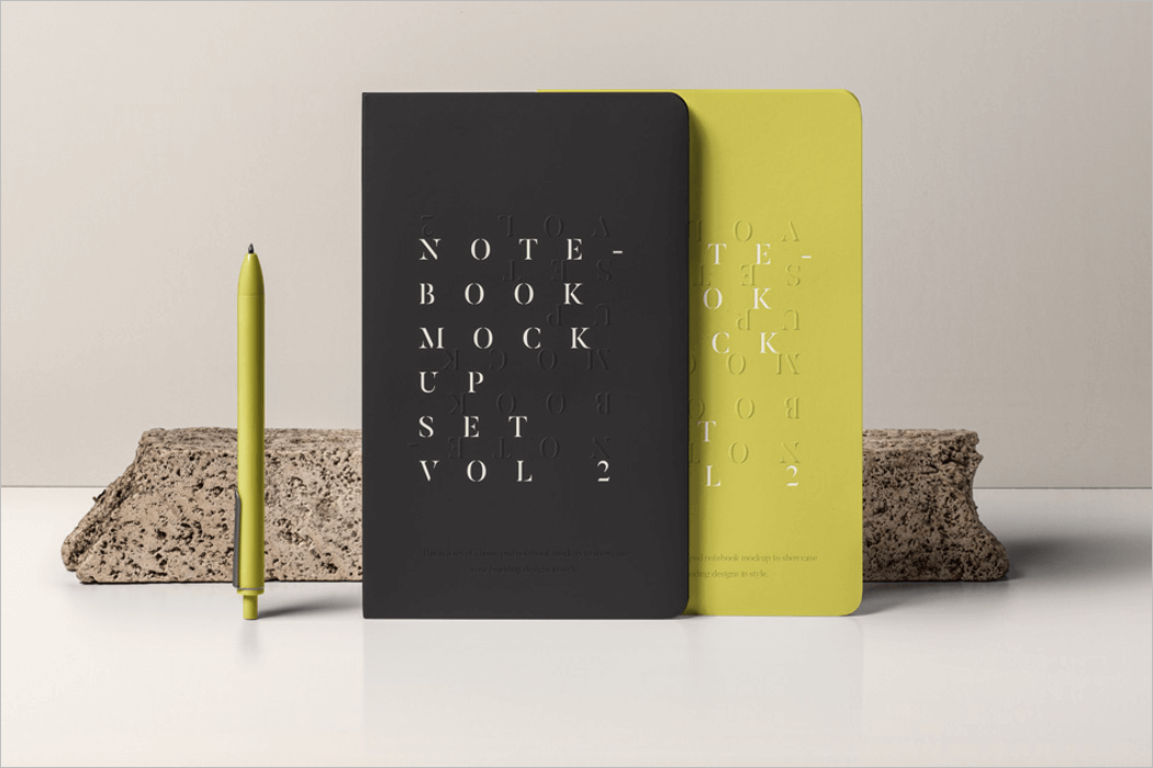 Notebook Mockup PSD Template