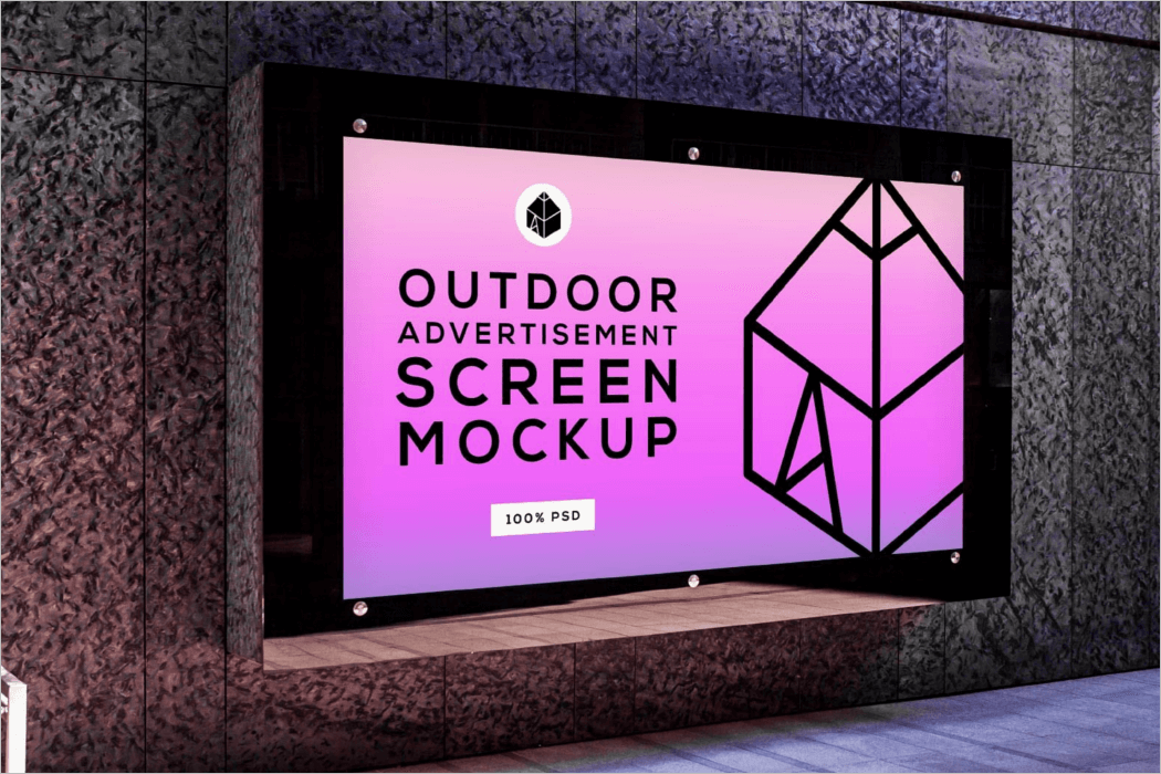 Outdoor Advertising Screen Mockup Design