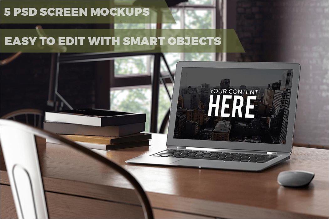 PSD Screen Mockup Design
