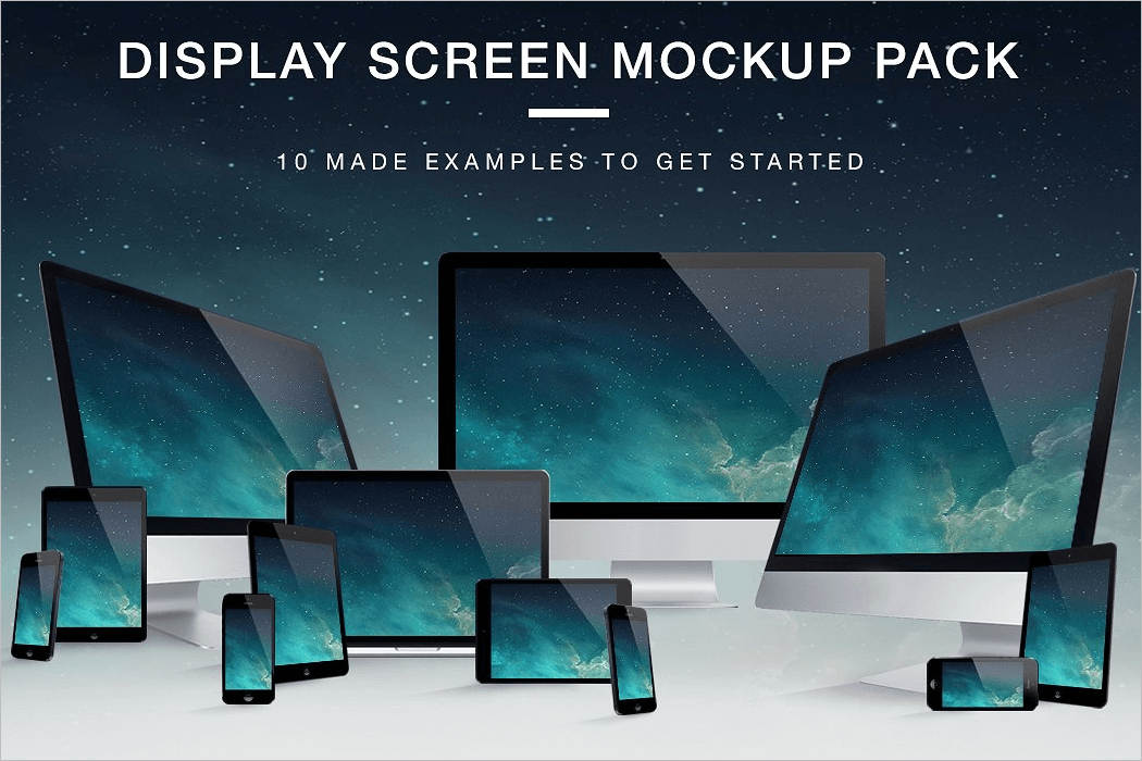 Pack Of Screen Mockup Design