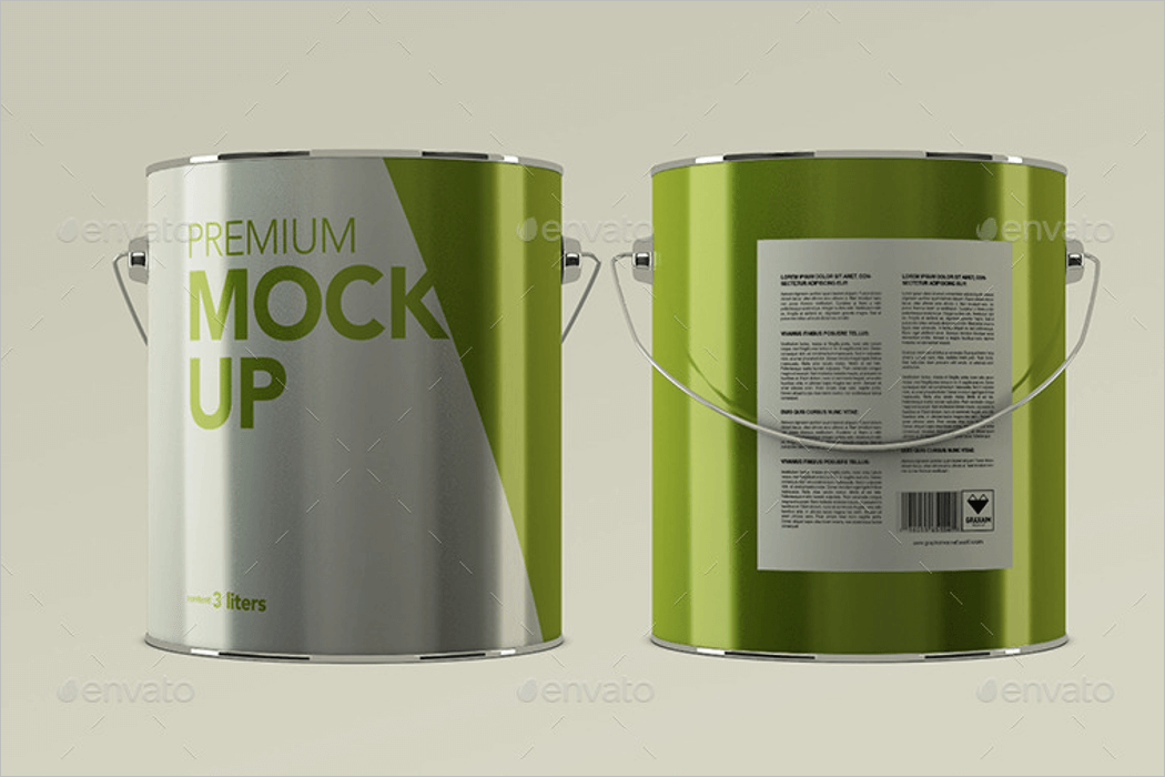 Paint Bucket Mockup PSD
