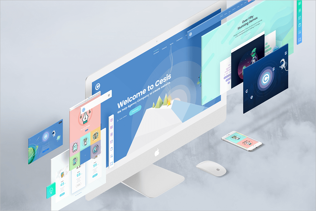 Perspective Website Mockup PSD Free Download