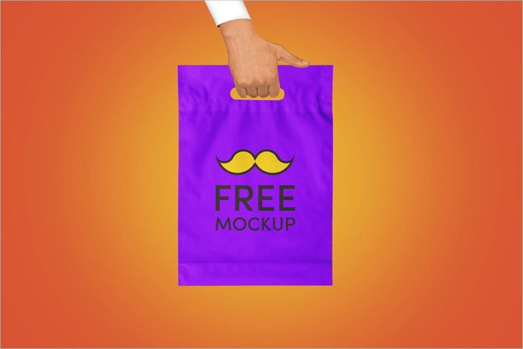 Plastic Bag Mockup Template