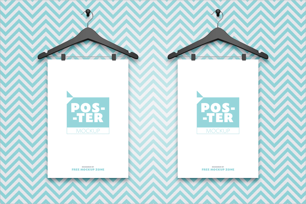 Poster Mockup PSD Free Download