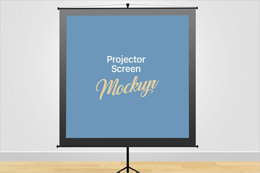 Projector Screen Board Mockup