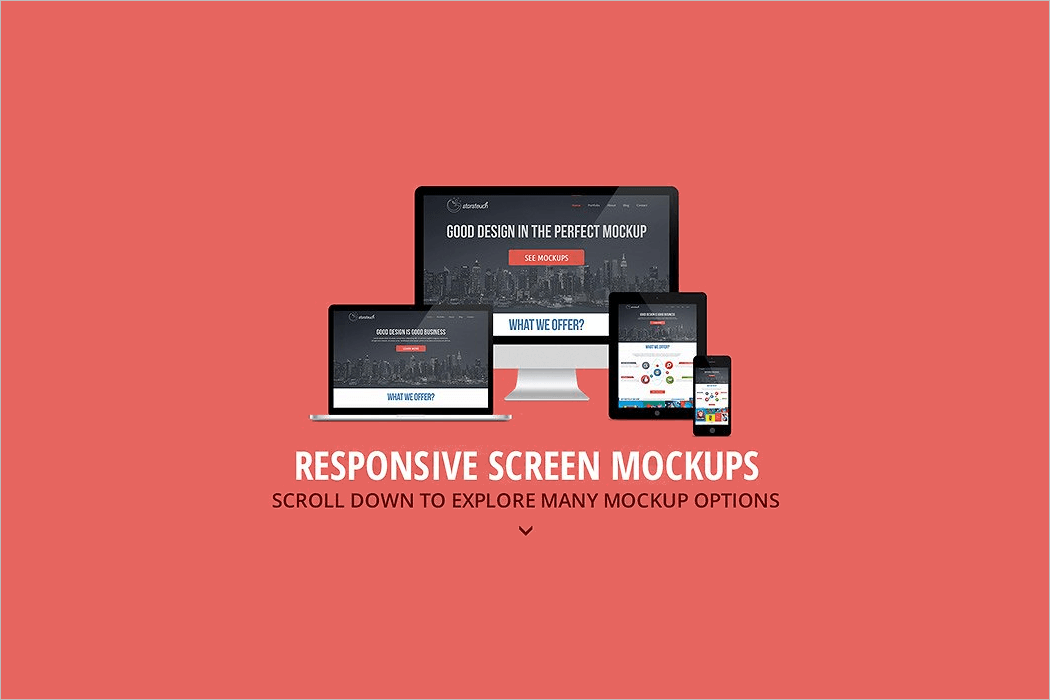 Responsive Screen Mockup Design]