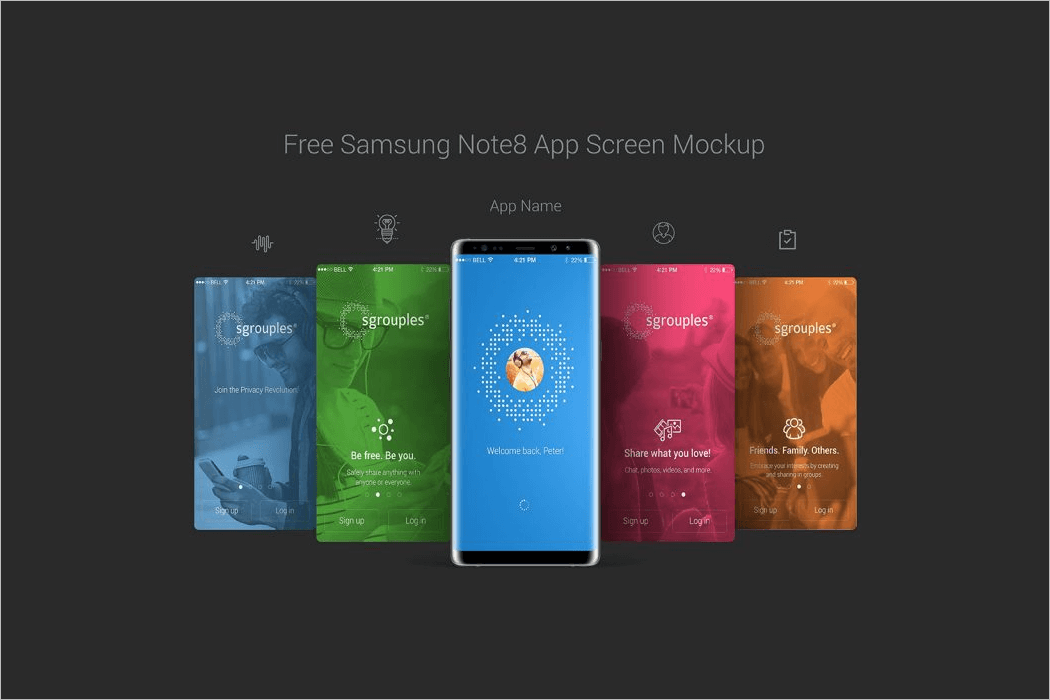 Samsung Mobile Screen Mockup Design