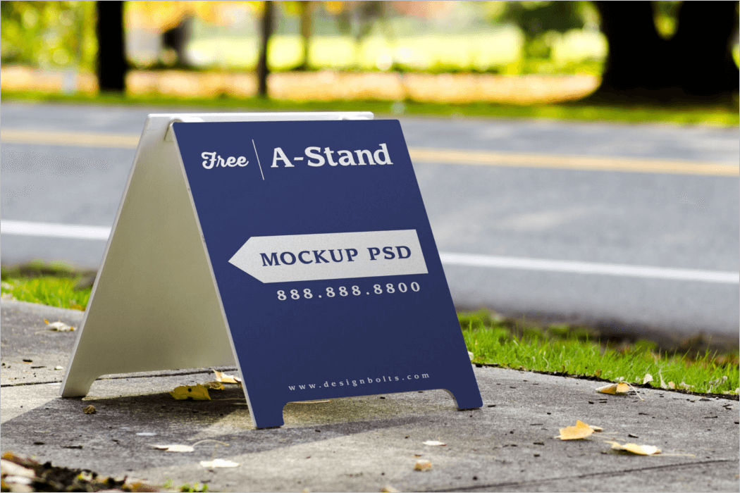 Stand Mockup Design Template