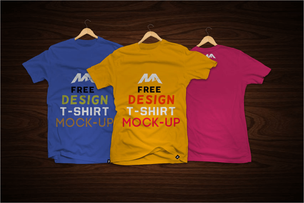 T-Shirt Mockup Template Free Download