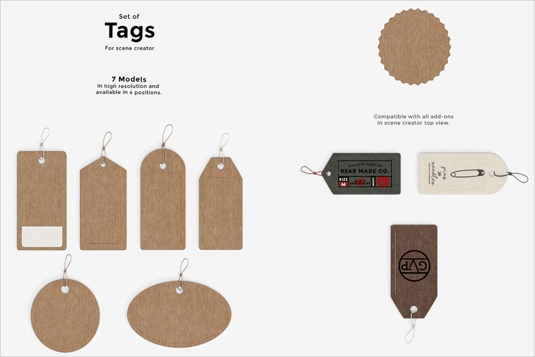 Tag Mockup Free Download