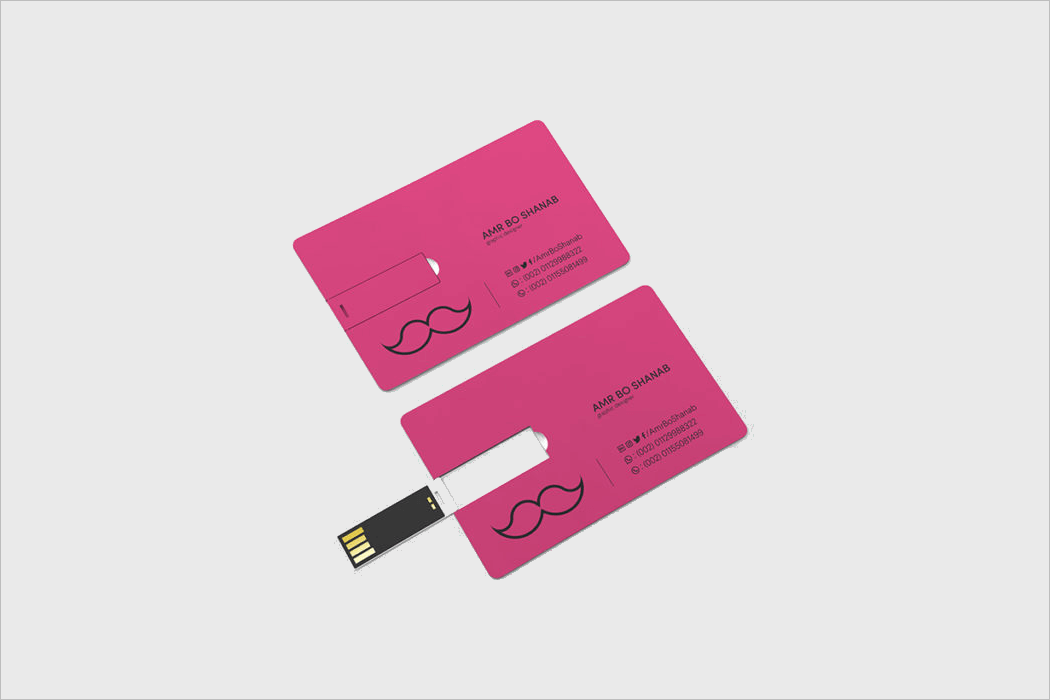 USB Business Card Mockup Template