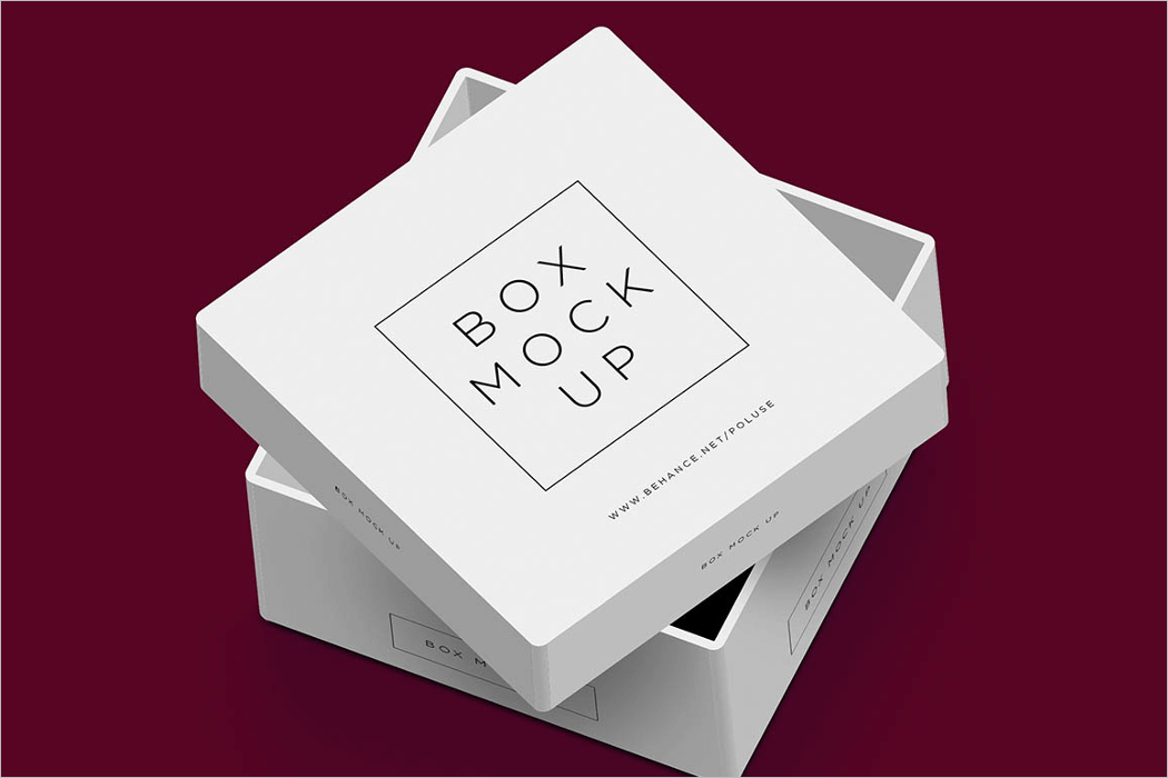White Box Mockup PSD