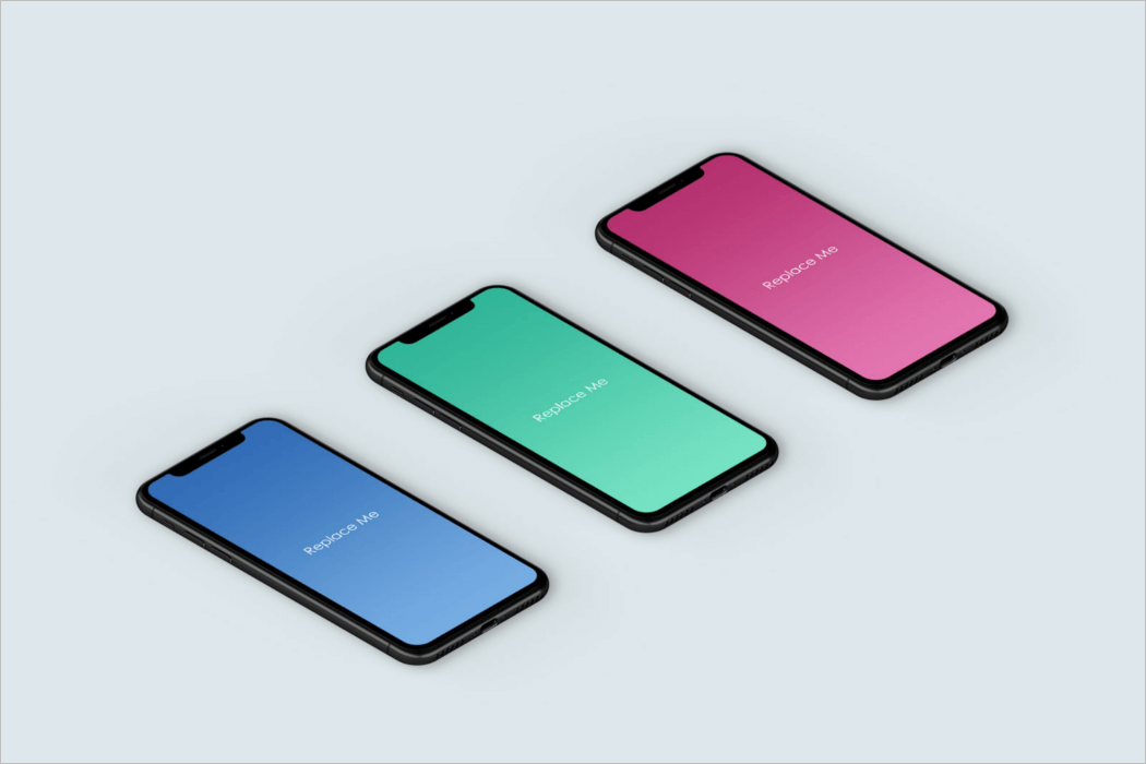 3D iPhone Mockup PSD