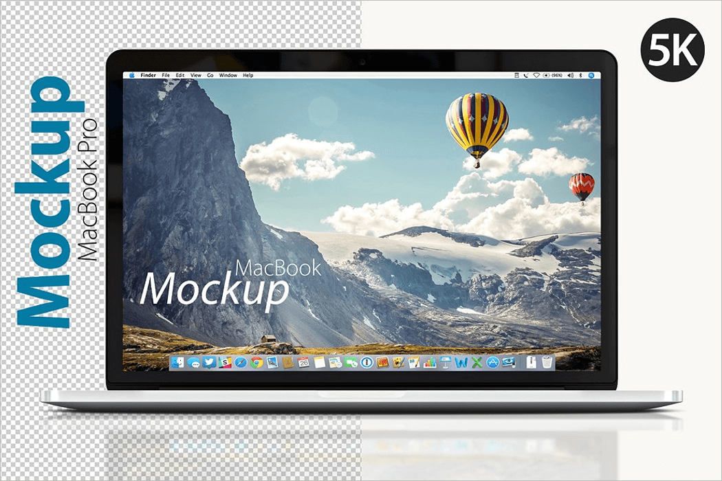 5K Macbook Mockup