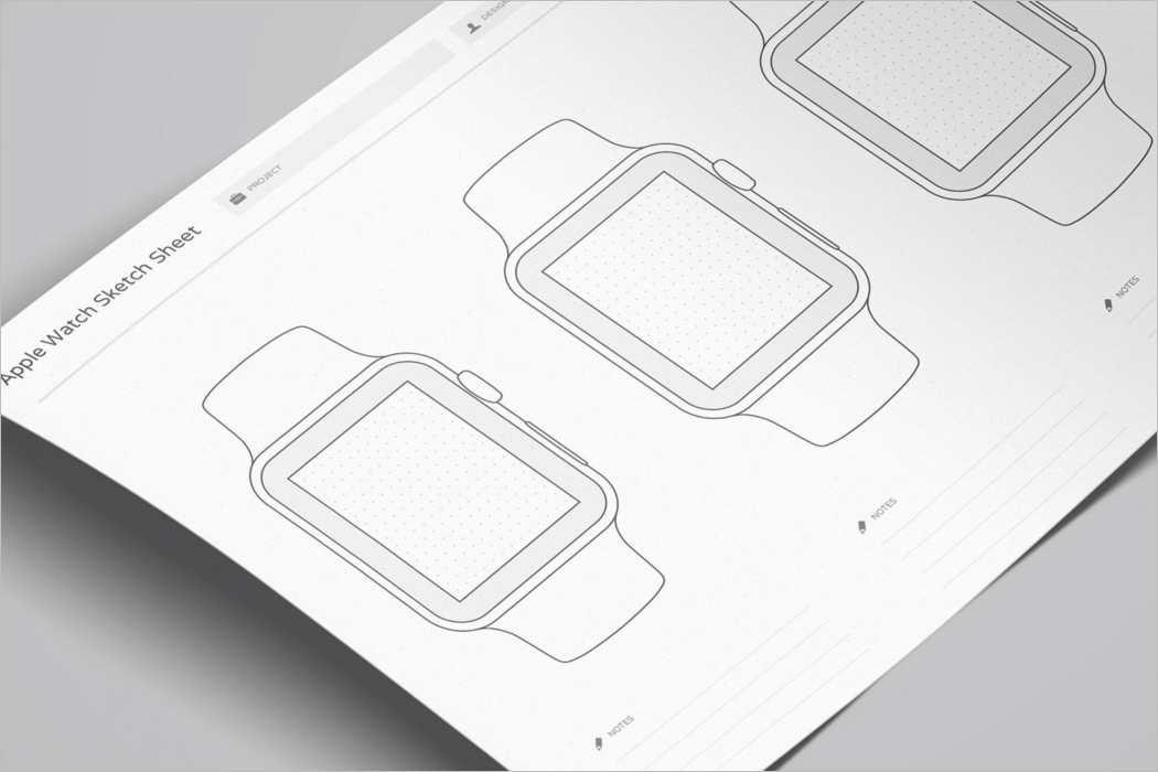 Apple Watch Wireframe Mockup