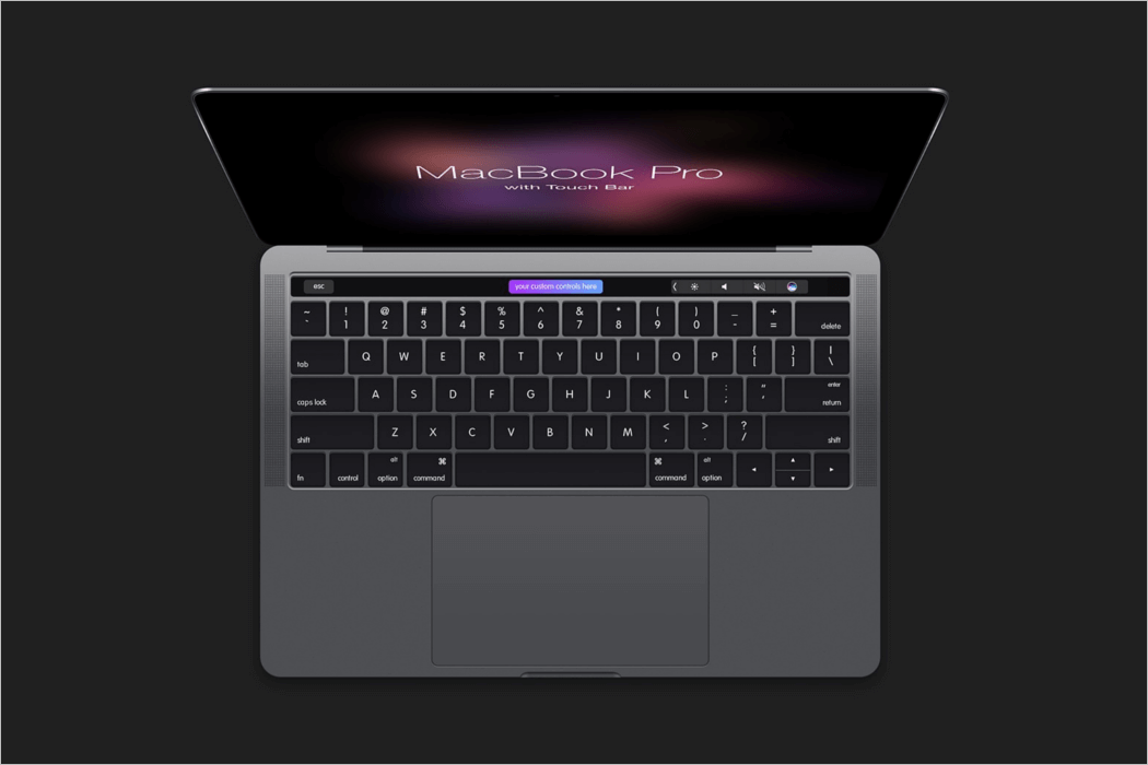 Black MacBook Mockup