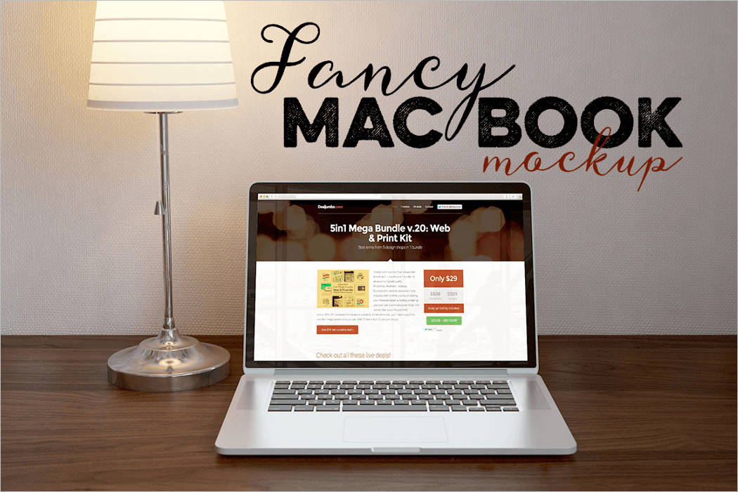 Cool MacBook Mockup