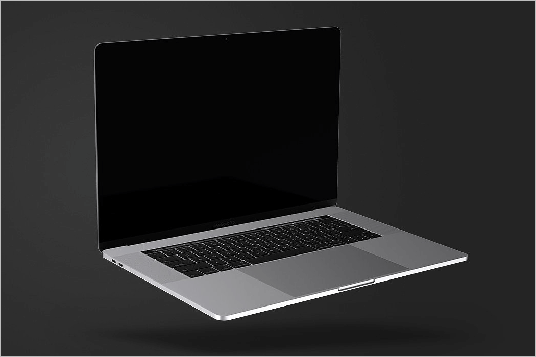 Floating MacBook Mockup