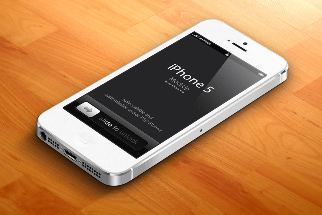 Free iPhone 5 Mockup PNG