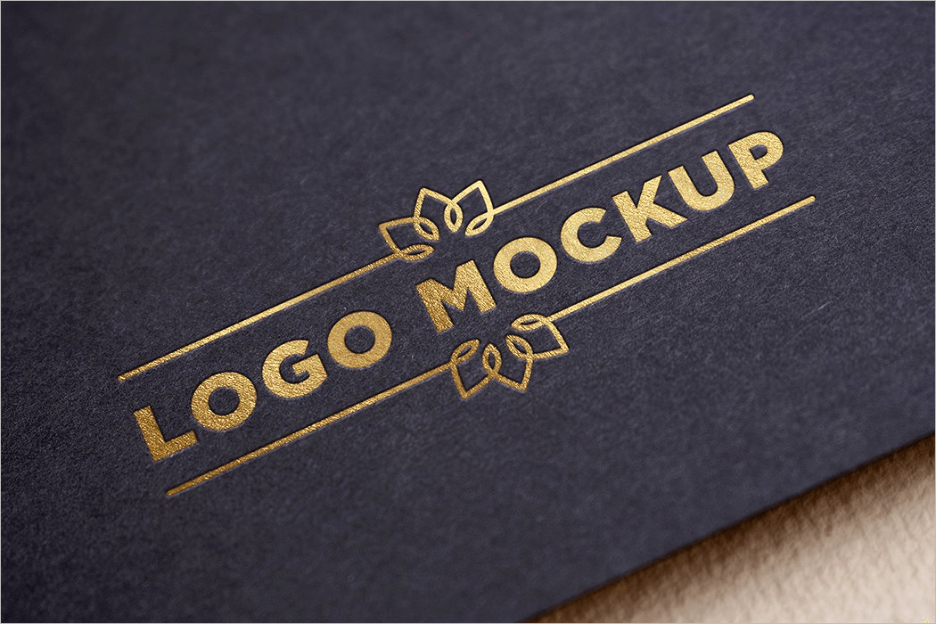 Gold Logo Mockup Design