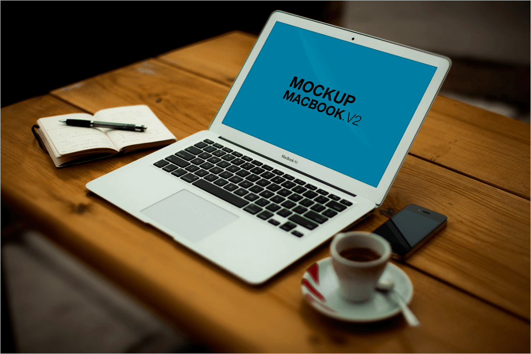 MacBook Air Mockup Free