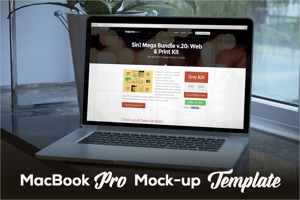 MacBook Mockup Design