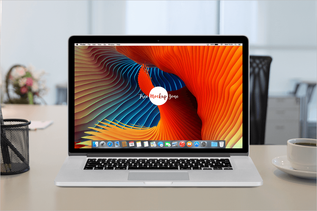 MacBook Workstation Mockup Free